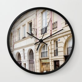 Left Bank Pink on Rue Saint-Jacques Wall Clock