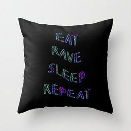 Acid Rave Mantra Throw Pillow