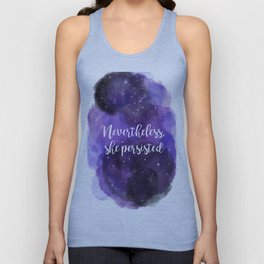 Celestial Nevertheless, she persisted Unisex Tank Top