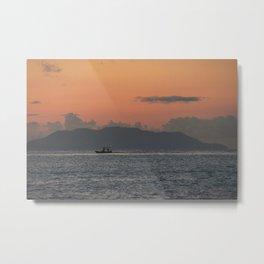 Sailing lonely Metal Print