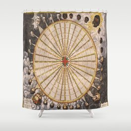 1657 Winds of the Earth by Jan Janszon Shower Curtain