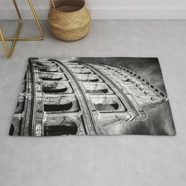 Rome, Italy, Colosseum, Black and White  Rug