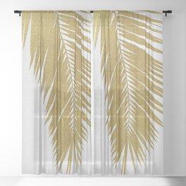 Palm Leaf Gold I Sheer Curtain