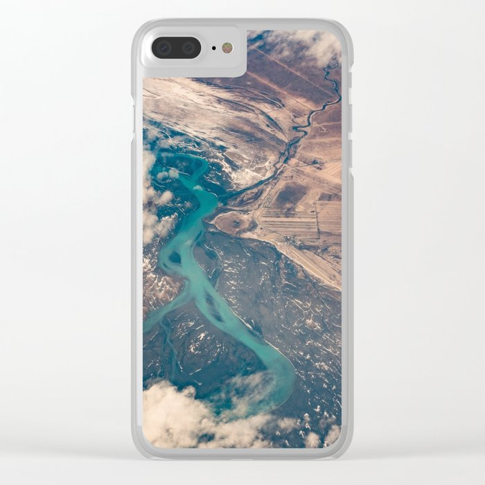 View of the World from Above (Earth Map) Clear iPhone Case