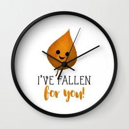 I've Fallen For You - Autumn Leaf Wall Clock