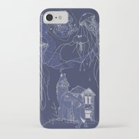 jelly fish iPhone & iPod Cases featuring Jelly Fish by Jessica Bowman Illustrates