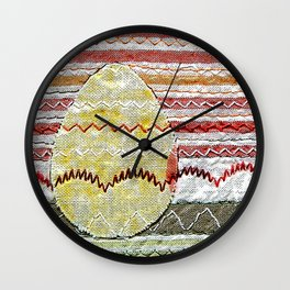 Easter egg in red Wall Clock