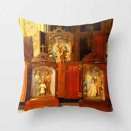 Holy Family shrines Throw Pillow