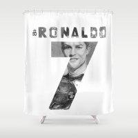 ronaldo Shower Curtains featuring Cristiano Ronaldo by Aeriz85