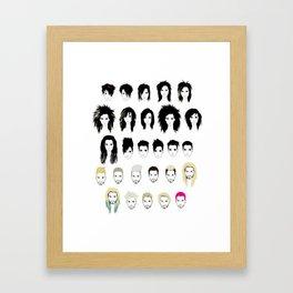 BK Timeline Framed Art Print