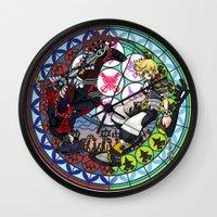 kingdom hearts Wall Clocks featuring Kingdom Hearts Vanitas & Ventus by Szilárd A Legjobb