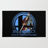 super smash bros Area & Throw Rugs featuring Marth - Super Smash Bros. by Donkey Inferno