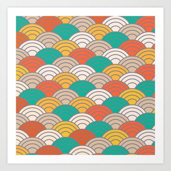 Colorful Circles X Art Print
