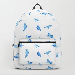 Blue Birds Pattern Backpack