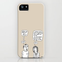 Crazy Busy / I Drew This Thing iPhone Case