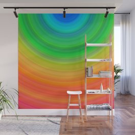 Rainbow Smile Colored Circles Summer Pattern Wall Mural