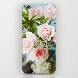 Peach Roses iPhone Skin