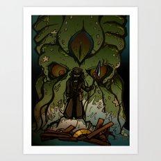 Ktulu Rises Art Print