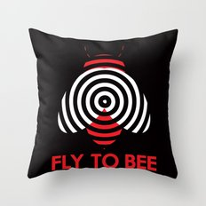 Fly 2 Bee Throw Pillow