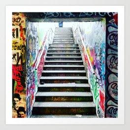 London: graffiti stairs Art Print