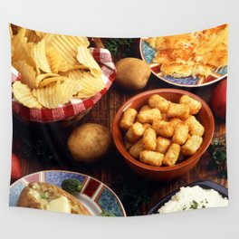Potato Foods Wall Tapestry