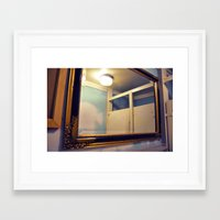 bathroom Framed Art Prints featuring Bathroom by Melissa Martinez