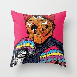 Shiba - The Hustler Throw Pillow