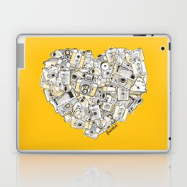 Camera Heart - on yellow Laptop & iPad Skin
