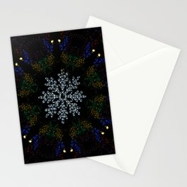 Continuous Christmas Lights Stationery Cards