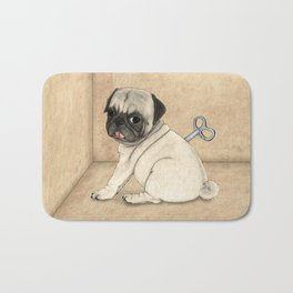 Toy dog; Pug Bath Mat