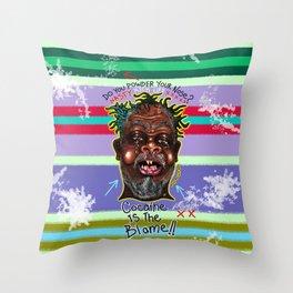 The Powder Trap Throw Pillow