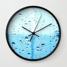 Wet Morning Wall Clock