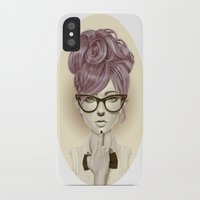 girls iPhone & iPod Cases featuring Fu*k U by Giulio Rossi