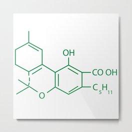Cannabis Chemistry: THC Metal Print