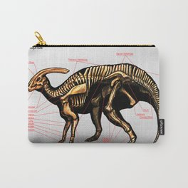 Parasaurolophus Skeleton Study Carry-All Pouch