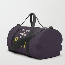 "Hand Lettering Motivational quote ""Do what makes you happy"" Duffle Bag"