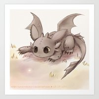 toothless Art Prints featuring Toothless by Sunny