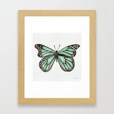 Mint Butterfly Framed Art Print