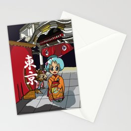 Kimono lady at the theatre in Ginza Tokyo Stationery Cards