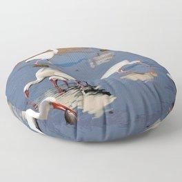 11 Ibises Wading Floor Pillow