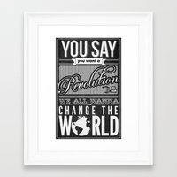 revolution Framed Art Prints featuring Revolution.  by Creation Factory