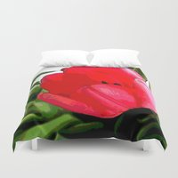 tulip Duvet Covers featuring Tulip by Mr and Mrs Quirynen