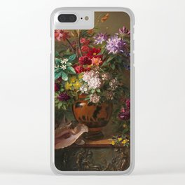 Georgius Jacobus Johannes van Os - Still life with flowers in a Greek vase - 1817 Clear iPhone Case