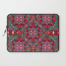 no.163 green yellow red pattern Laptop Sleeve
