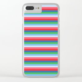 Child's Play Chucky Inspired Stripes Clear iPhone Case