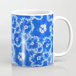 tie dye florals in ultramarine Coffee Mug