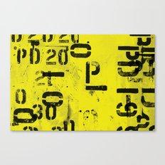 Code Canvas Print