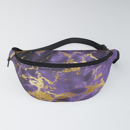 Ultra Violet Gold Marble Metallic Foil Fanny Pack