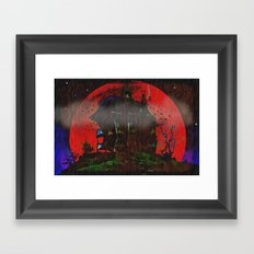 There Was a Crooked House - 055 Framed Art Print
