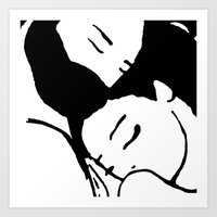 hug Art Prints featuring Hug by Sara Setti